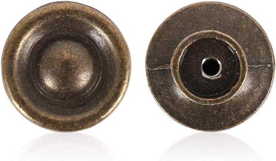 FlowersSea Manijas Redondas de bronce antiguo con gabinete,Tiradores Cl/ásicos para perilla de tiro del caj/ón Paquete de 10