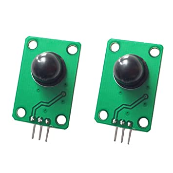 DollaTek 2PCS Detector infrarrojo piroeléctrico Cuerpo Humano Que detecta el módulo del Sensor de Movimiento de