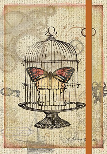Lang  Moth Cage Pocket Journal by Susan Winget, 3.75 x 5 inches, 160 Ruled Pages (1340009)