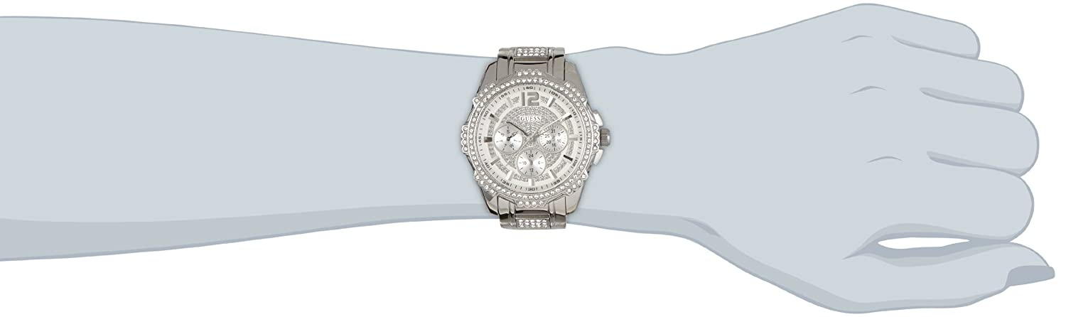 Amazon.com: Guess W0286L1 mm Silver Steel Bracelet & Case Mineral Womens Watch: Watches
