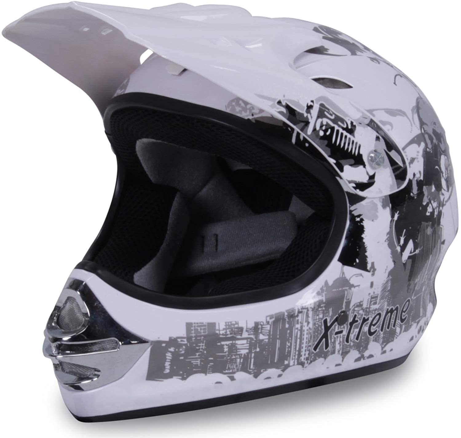 Large Actionbikes Motors Motorradhelm Kinder Cross Helme Sturzhelm Schutzhelm Helm f/ür Motorrad Kinderquad und Crossbike in schwarz