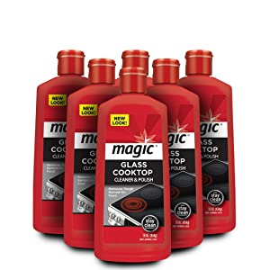 Magic Ceramic & Glass Cooktop Cleaner - 6 Pack - Professional Home Kitchen Cooktop Cleaner Polish Use On Induction Ceramic Gas Portable Electric