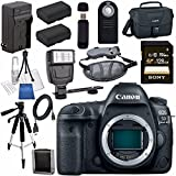 Canon EOS 5D Mark IV DSLR Camera (Body Only) 1483C002 + LPE-6 Lithium Ion Battery + External Rapid Charger Bundle