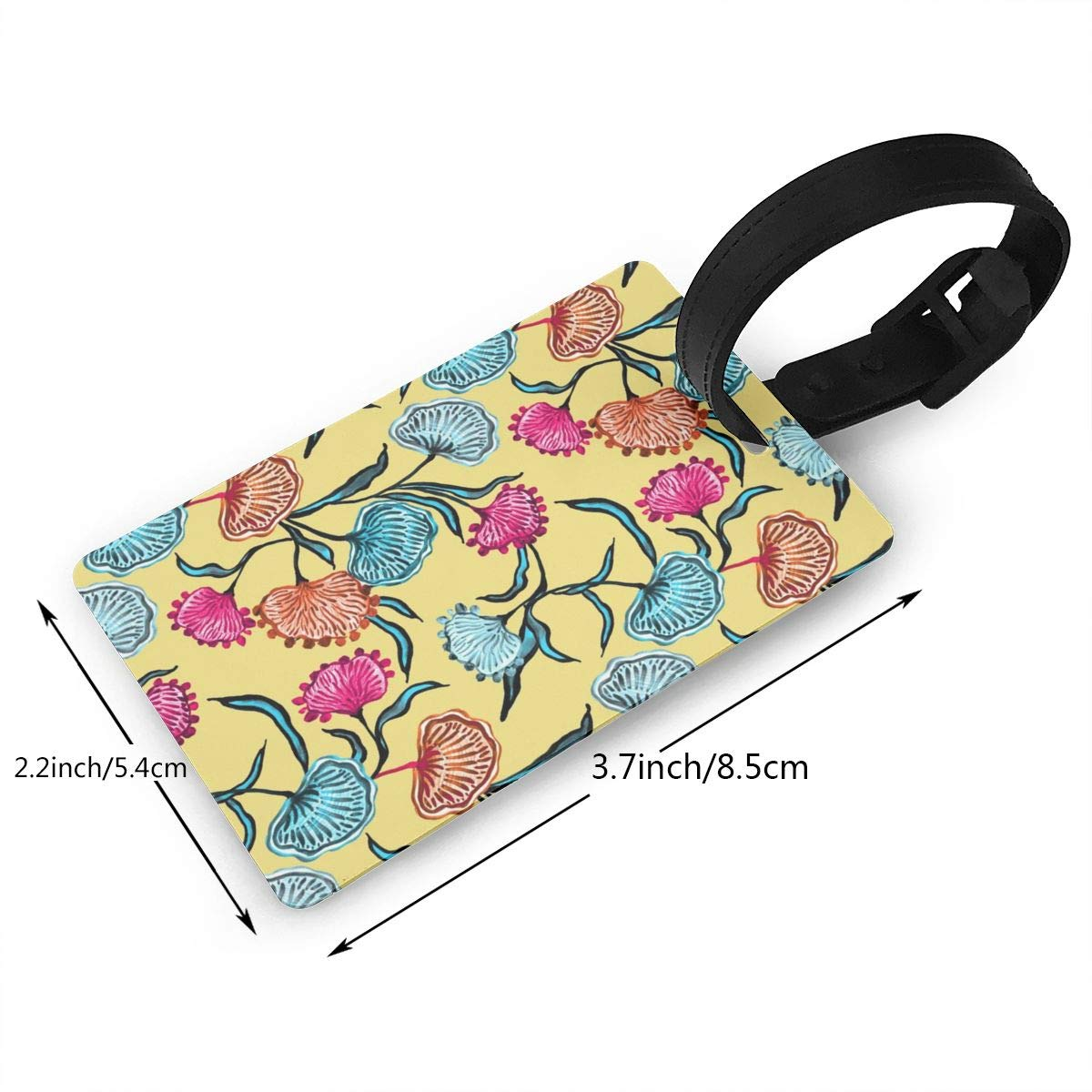 2 Pack Luggage Tags Floral Tropical Handbag Tag For Travel Tags Accessories