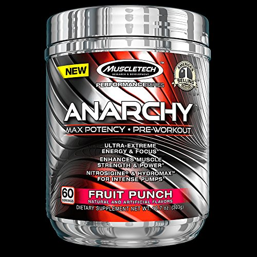 MuscleTech Anarchy Potency Pre Workout Servings