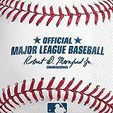 "Amscan Baseball Dream Rawlings Luncheon Napkins, White/Red, 6.5 x 6.6"""