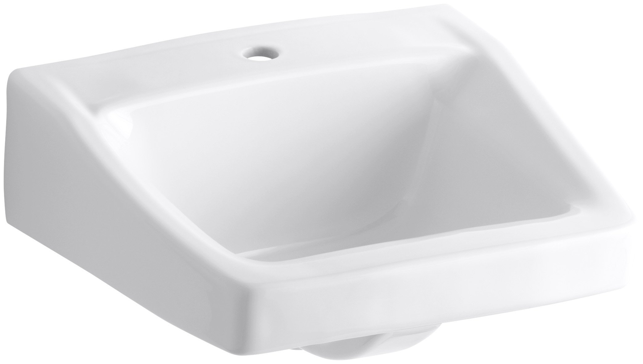 KOHLER K-1722-0 Chesapeake Wall-Mount Bathroom Sink, White