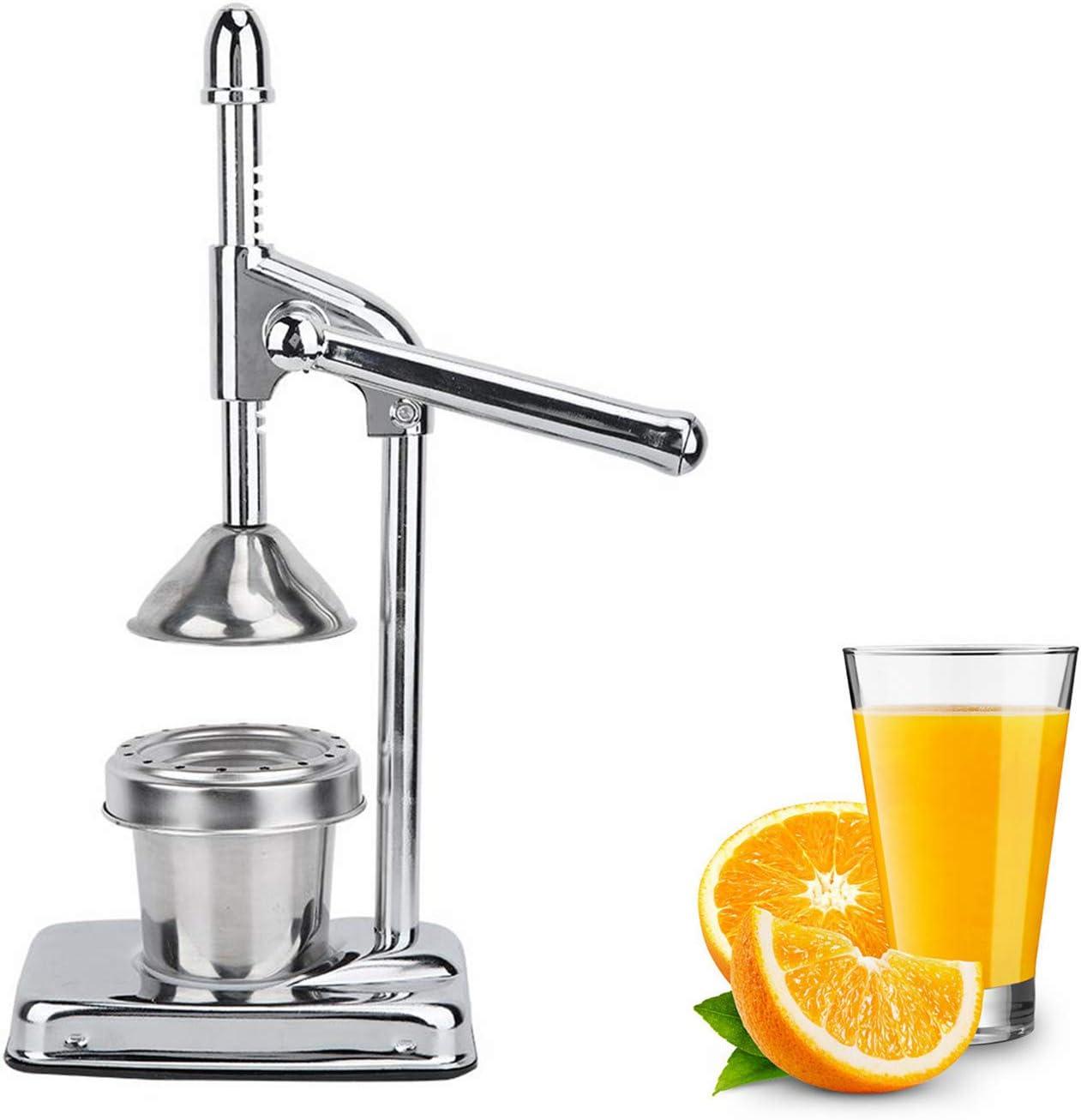 Appearancees Portable Size Stainless Steel Manual Lemon Squeezer Citrus Orange Juice Hand Juicer Screw Press Fresh Squeezed Fruit Tools