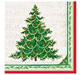 Classic Christmas Tree Party Napkins, 16ct