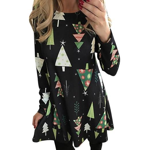 christmas dress print neartime women xmas print long sleeve swing dress ladies