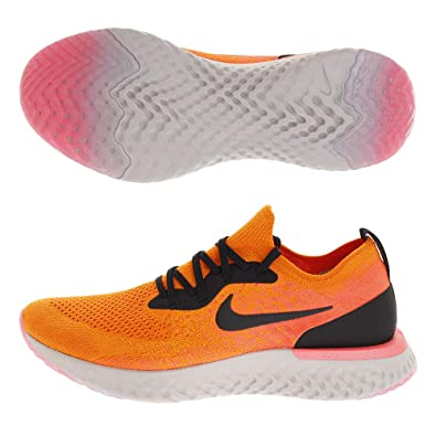 4b18f582918f Nike Men s Epic React Flyknit Competition Running Shoes Multicolour (Copper  Black Flash Crimson 800