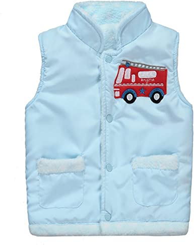 Toddler Kids Baby Sleeveless Solid Color Striped Warm Vest Jacket Outwear Coat Clothing,SIN vimklo