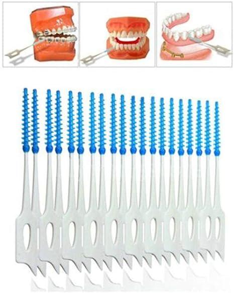 200 dientes de cepillado flor dientes limpieza oral doble cabeza ...