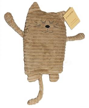 Inware 8719 - Wärmetier Katze, beige, 17 x 26 cm, Füllung herausnehmbar