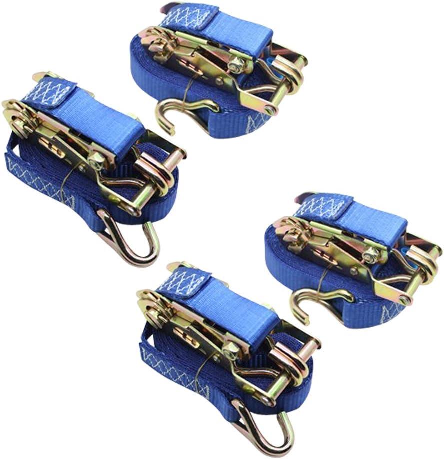 DiversityWrap Sangles /à cliquet bleu 1,5 T Sangles darrimage pour le chargement de remorque