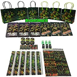 Dreamshop14 Teenage Mutant Ninja Turtles Goody Bag Party Favor Stationery (54pc)