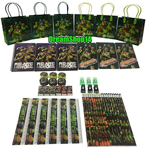 Dreamshop14 Teenage Mutant Ninja Turtles Goody Bag Party Favor Stationery 54pc