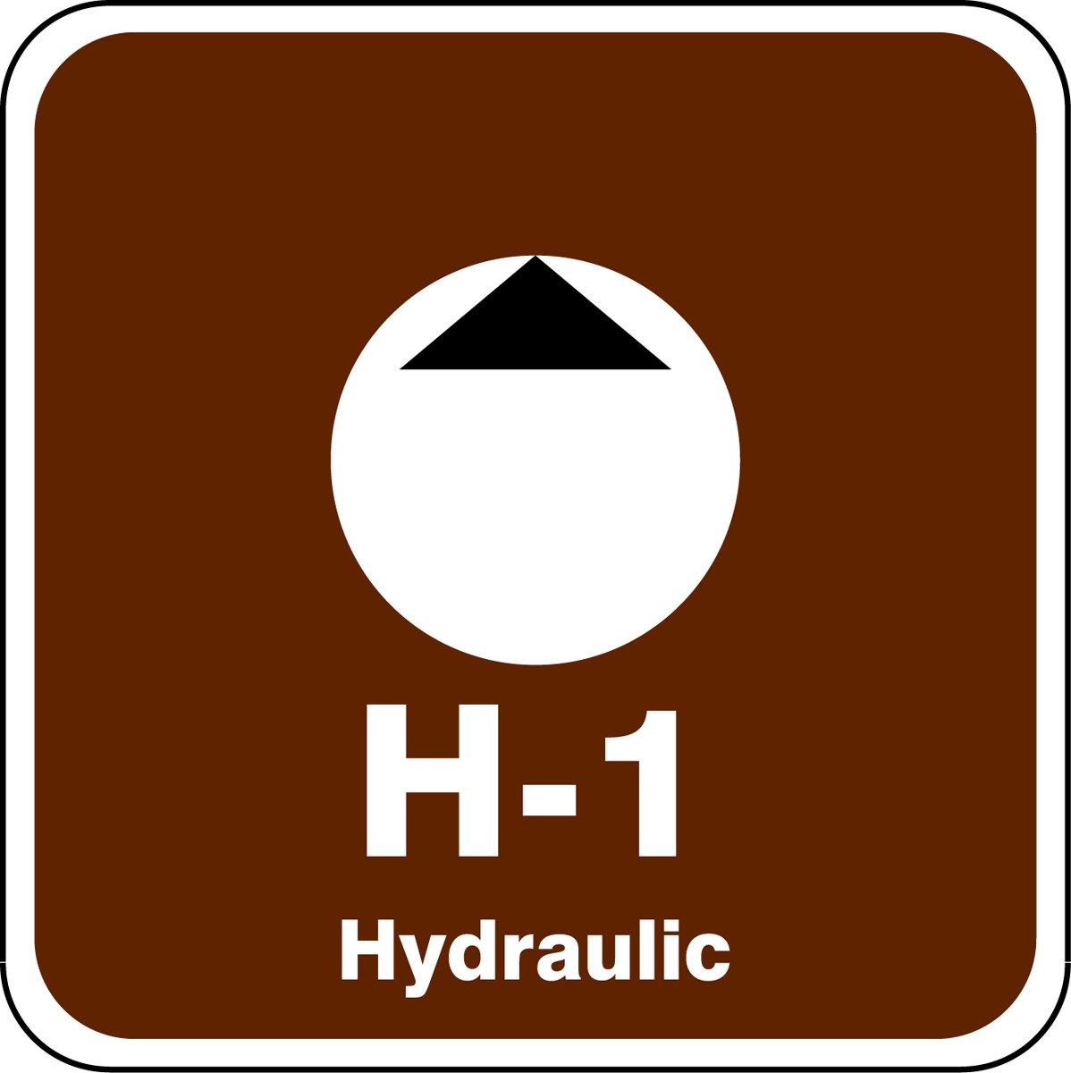 2-1//2 W x 2-1//2 L Accuform TDK501XVE Adhesive Dura-VinylH-1 Hydraulic Energy Source Shape ID Tag White//Black on Brown 2-1//2 W x 2-1//2 L