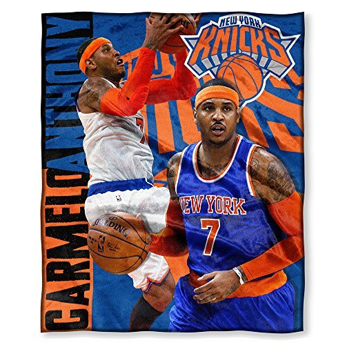 Northwest New York Knicks Nba Carmelo Anthony Silk Touch 50  X 60  Throw