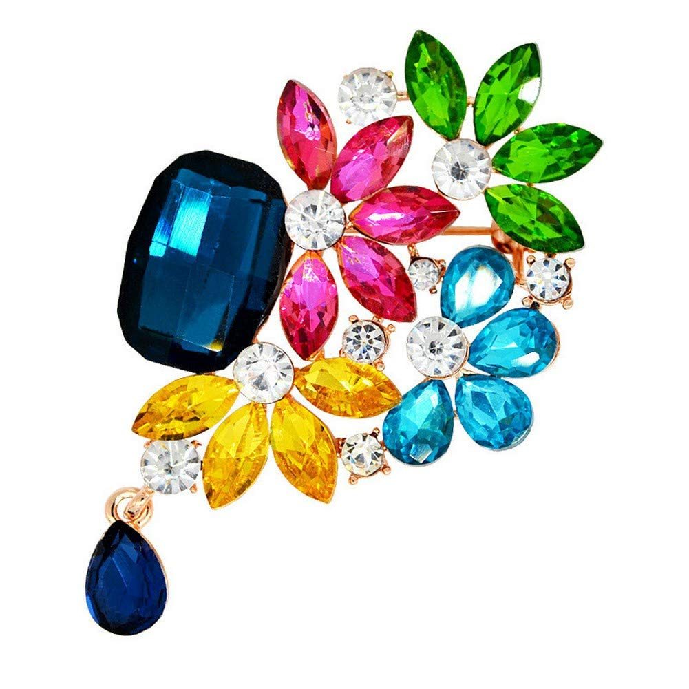 DDLLA Rhinestone Crystal Diamond Flower Broaches for Women Alloy Plating Stereoscopic Hollow Jewelry Womens Accessories for Women Women Fashion Jewelry Brooch Pins for Women