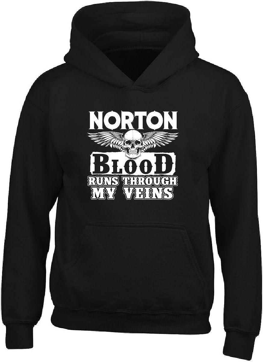 Adult Hoodie 2xl Black Norton Blood Runs Through My Veins Family