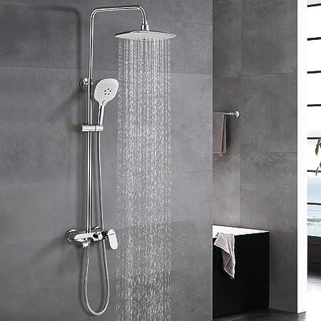 WOOHSE Sistema de ducha para bañera y ducha con mezclador ...