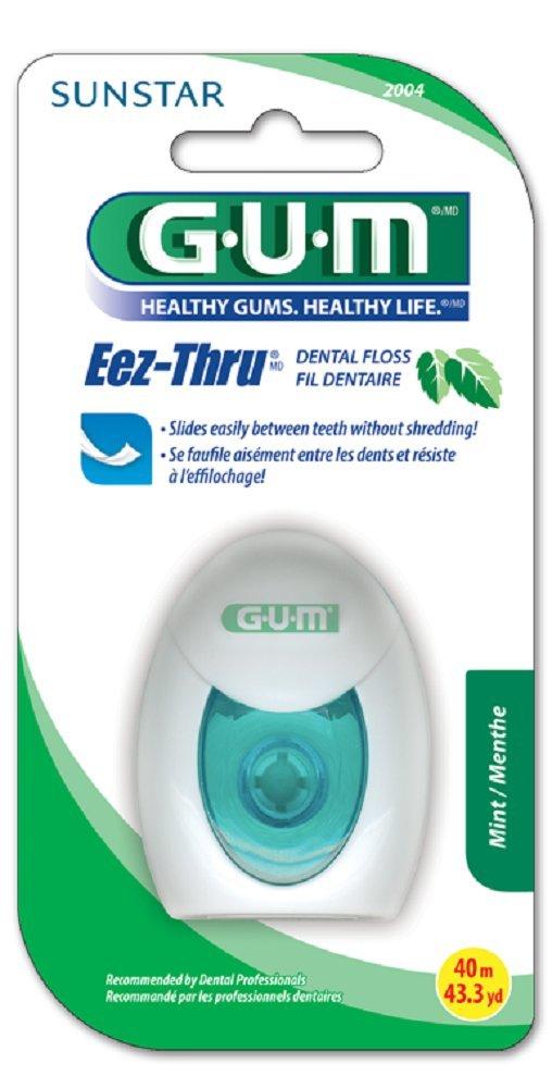 GUM EEZ-Thru PTFE Dental Floss (43.3 Yards of Floss) Mint