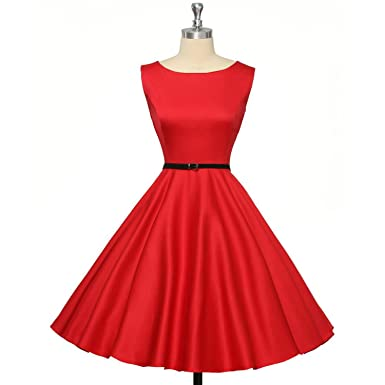 50s 60s Vintage Dresses Women Dress Audrey Hepburn Vestidos Sleeveless Summer Retro Dress Clothing,12
