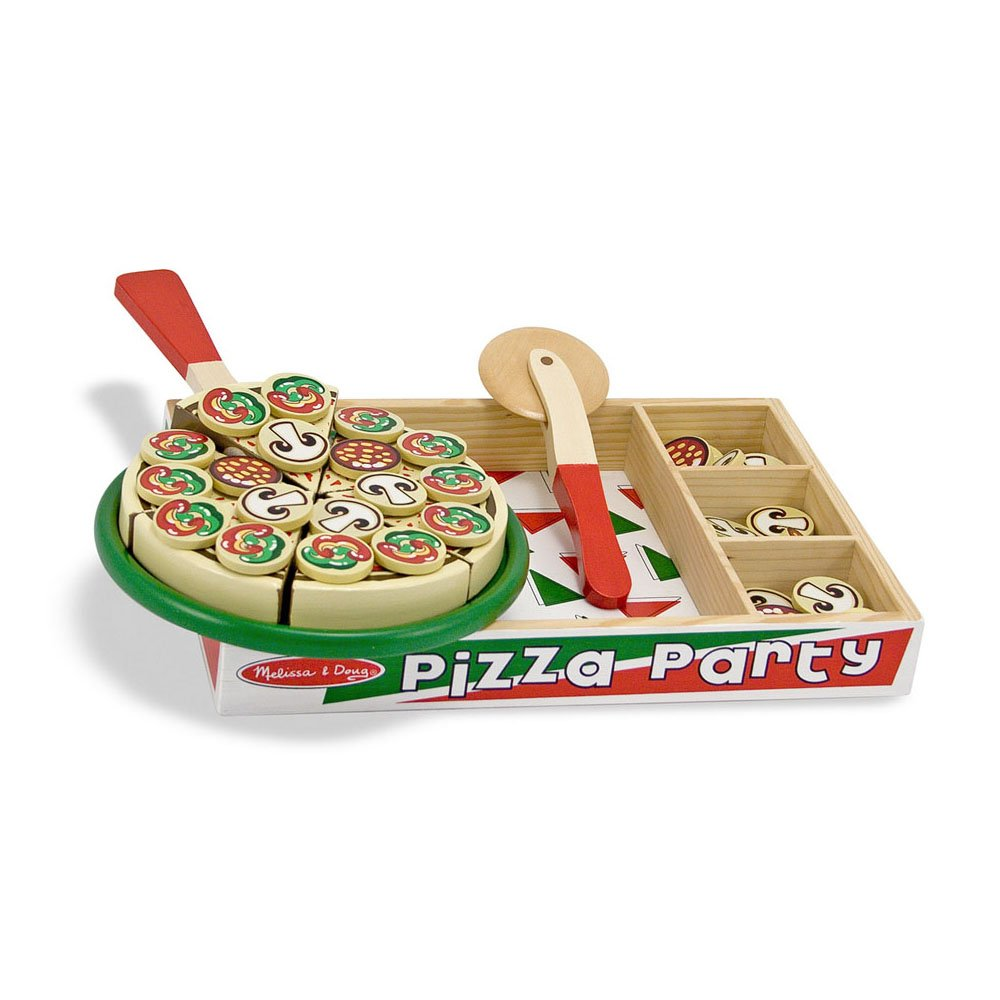 Melissa & Doug Pizza Party Wooden Play Food Set With 54 Toppings Melissa and Doug 167 Educational / Scientific Toys