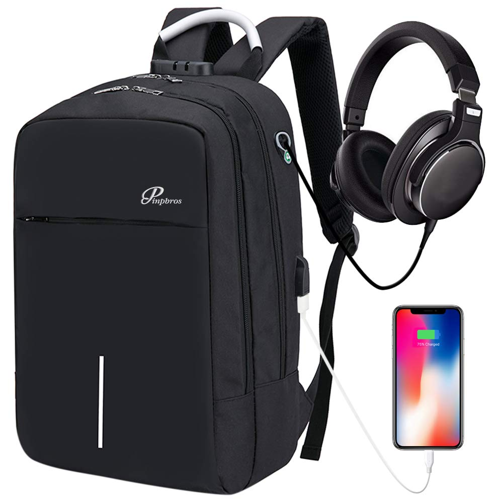 Travel Laptop Backpack, Business Anti Theft Slim Durable Laptops Backpack with USB Charging Port & Headphone interface, Water Resistant College School Office for Women & Men Fits Under 14 inch Laptop