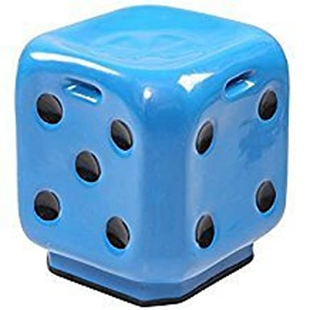 Kajal Toys� Dice Stool Premium High Quality Fiber Material Unbreakable Durable Dice Sitting Stool (Fiber) For Living Room/Home/Office/Outdoor Stool With Anti-Skid Rubber/Stool With Sturdy Compact and Stylish(Size 12x12x15)(Blue)