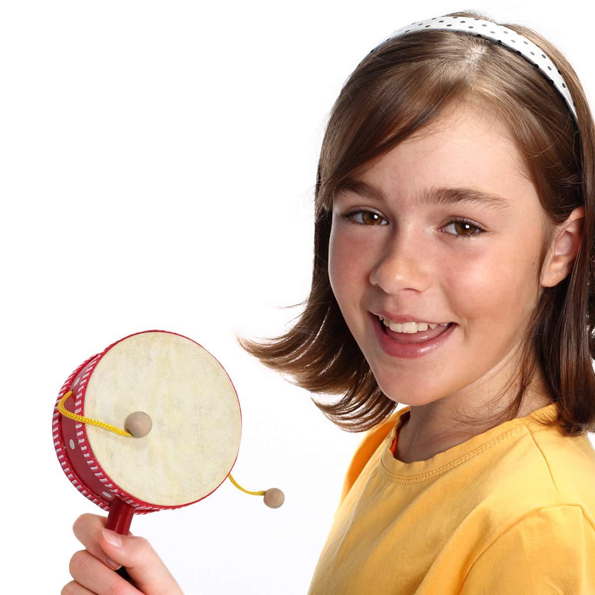 inTemenos Monkey Drum - Spinning Balance Drum 4 inch String Drum by inTemenos