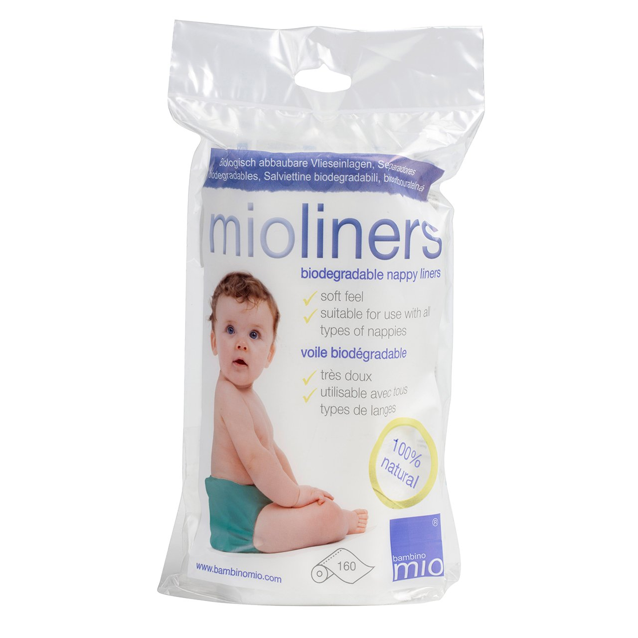 Bambino Mio, Mioliners (Diaper Liners), 2 Pack BL2