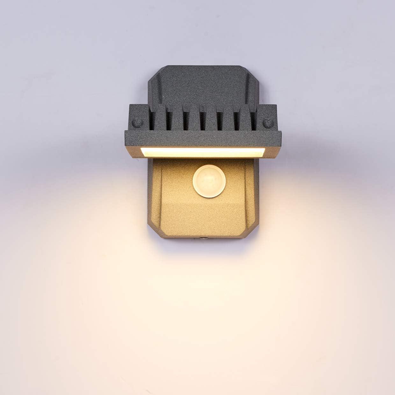 Topmo-plus Bañadores de pared jardín Sensor de Movimiento apliques ...