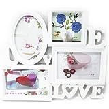 【ノーブランド品】 ハイセンス LOVE & LOVE デザイン おしゃれな 白い フォトフレーム 新婚 カップルさんに