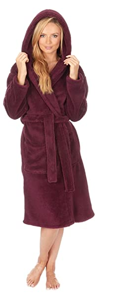 Ladies Forever Dreaming PLUS SIZE Snuggle Hooded Gowns Robes Wraps 34B388 Purple 2XL: Amazon.es: Ropa y accesorios