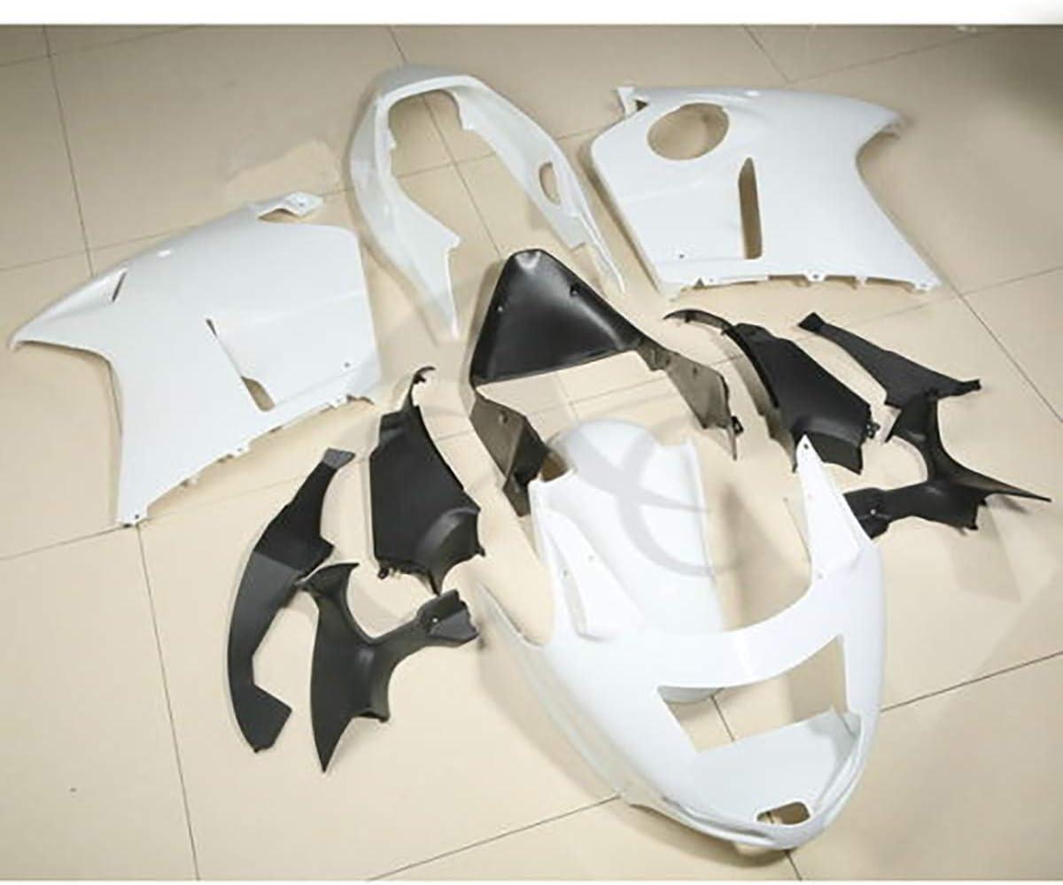 XFMT Unpainted White ABS Fairing Bodywork Compatible with Honda CBR1100XX Blackbird 1996-2007