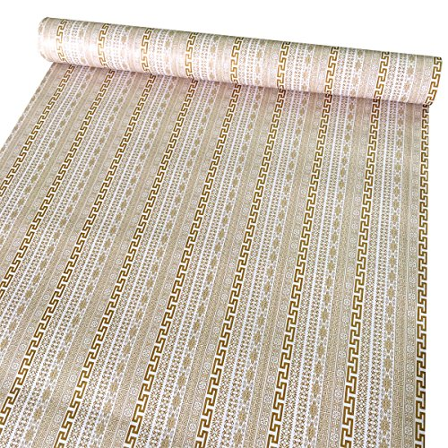 SimpleLife4U Exotic Style Self-Adhesive Shelf Liner PVC Contact Paper Refurbish Old Dining Table Bed Headboard 17.7 Inch By 13 Feet by SimpleLife4U (Image #2)