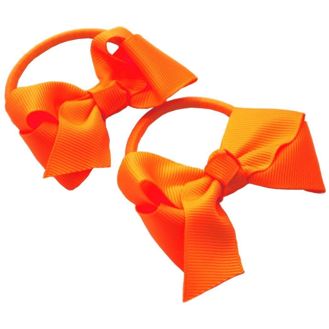 School Bobbles Hair Bobbles 3 Bows Pack Of 2 Pretty Classic Hair Bows Hair Elastics