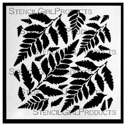 Stencil Girl Products, Artist Design Stencils - Ferns - 6