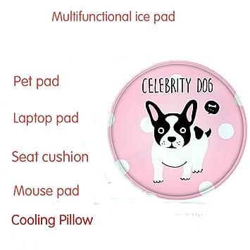 Aliver Alfombrilla de refrigeración multiusos mascotas, PVC, impermeable, redonda, para silla o sofá, cama, yoga, refrigeración, perros y gatos: Amazon.es: ...