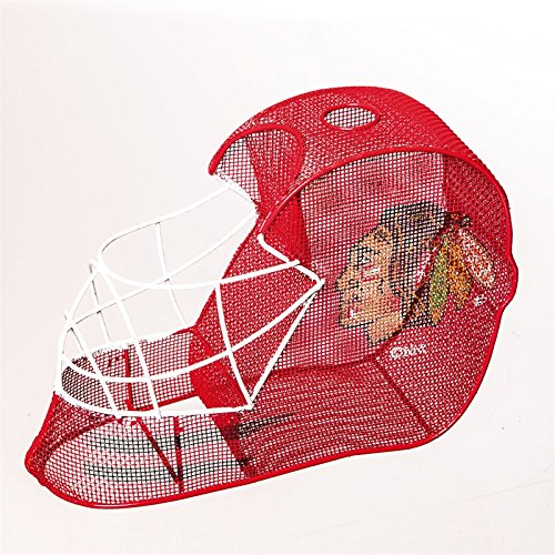 Chicago Blackhawks Goalie Helmet Bottle and Cork Cage Holder