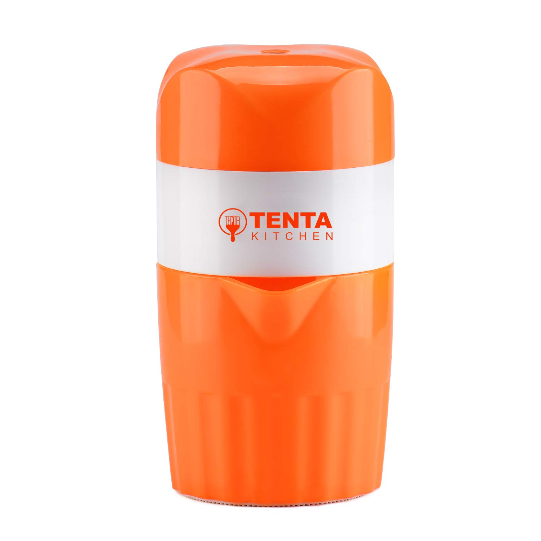 TENTA Kitchen Manual Juicer Fruit Lemon Lime Orange Squeezer - 16.9 oz/500 ml Container - Pour Spout - Perfect Juicer Mug for Kids
