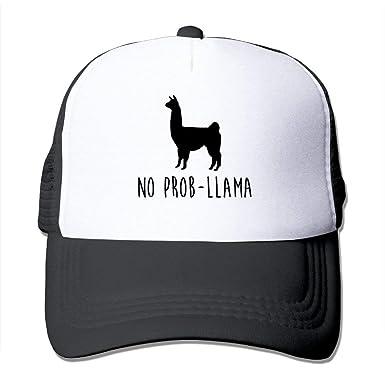 Amazon.com: No Prob-Llama Funny Caps Unisex Mesh Strapback ...