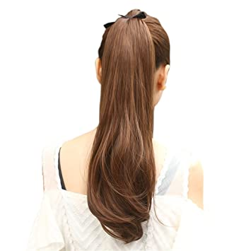 Flip in extensions ponytail