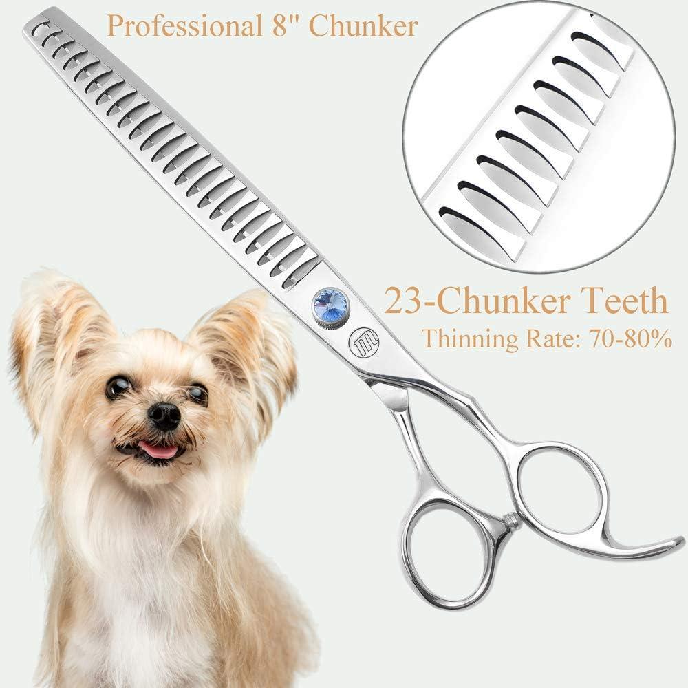 Aussie PET 7inch Profesional PET DOG Grooming tijeras de corte de tijeras de entresacar curvas