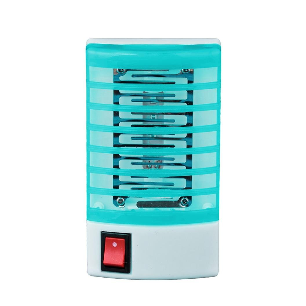 Celendi LED Light Mosquito Killer Socket Electric Mosquito Fly Bug Insect Trap Killer Zapper for Home (blue)