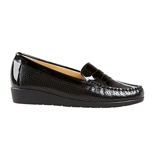 c7d44faa4007 Van Dal Sheldon Loafers in Black Patent  Amazon.co.uk  Shoes   Bags
