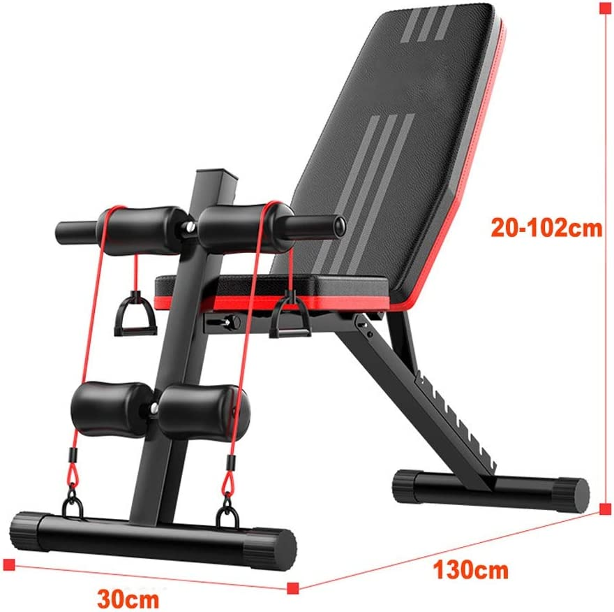 NEWWF Foldable Sit Up Bench Adjustable Weight Bench Dumbbell Bench Multifonctional Workout Bench Flat Incline Decline Multi Use Exercise Home Training Gym Weight Lifting Bench