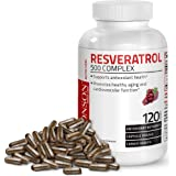Resveratrol 500 Complex Red Wine Extract Natural Antioxidant Supplement for Cardiovascular & Immune System Health, 120…